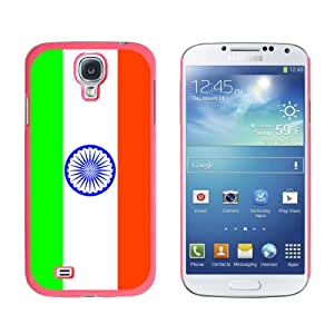 Graphics and More India Flag Snap-On Hard Protective Case for Samsung Galaxy S4 - Non-Retail Packaging - Pink