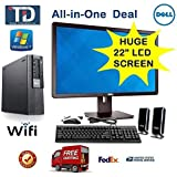 Dell Optiplex 990 SFF, Core i5-2400, 3.1GHz (2nd Gen), 16GB, 1TB, DVDRW, Windows 7 Pro, *** Wi-Fi USB Adaptor ***, FREE NEW KEYBOARD + MOUSE + SPEAKER *** PLUG AND PLAY ALL-IN-ONE SYSTEM - WITH *** DELL 22 LCD Monitor *** By TDi Computer