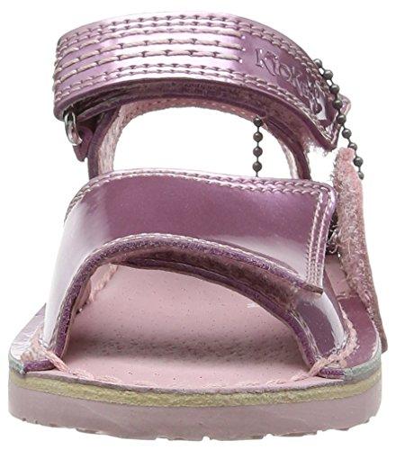 Kickers Mädchen Adlar San Offene Sandalen mit Keilabsatz rosa (Light rosa)