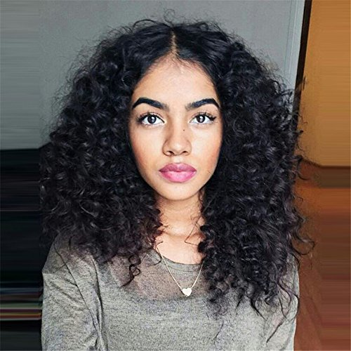 Vigour Beauty Short Hair Wigs Middle Part Kinky Curly Synthetic Heat Resistant Fiber Natural Looking Loose Wavy Black Wigs For Black Women 18inch Buy Online In Gibraltar At Gibraltar Desertcart Com Productid 61983853