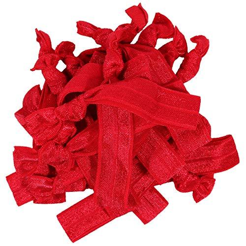 Hair Ties 20 Elastics Ponytail Holder Set No Crease Ribbon Bands ()