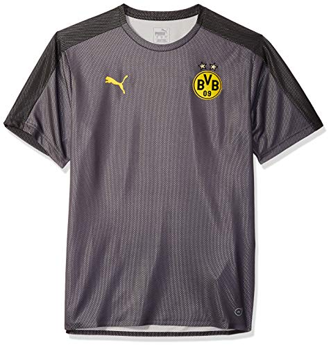 (PUMA Men's BVB Stadium Jersey Without Sponsor Logo, Asphalt Black,)
