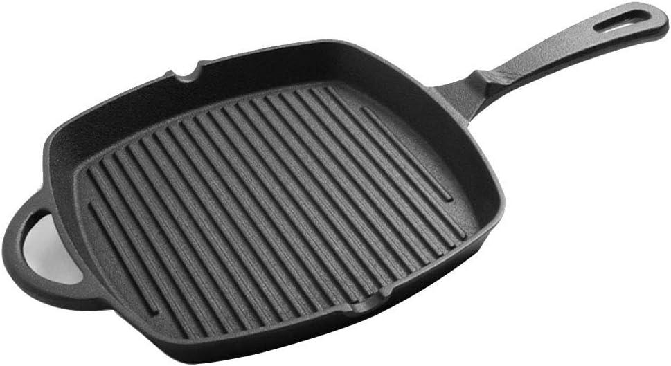 ShiSyan Moldeada 26cm Hierro sartén, sartén Antiadherente de la Plancha Pan Pan de Gas, inducción eléctrica Cocina