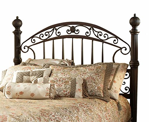 Hillsdale Furniture 1335HKR Chesapeake Headboard with Bed Frame, King, Rustic Old Brown -