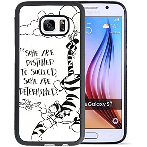 Winnie the Pooh Samsung Galaxy S7 Case, Onelee[Never fade] Disney Cartoon Winnie the Pooh Tigger Samsung Galaxy S7 Case Black Soft Rubber Case Sales