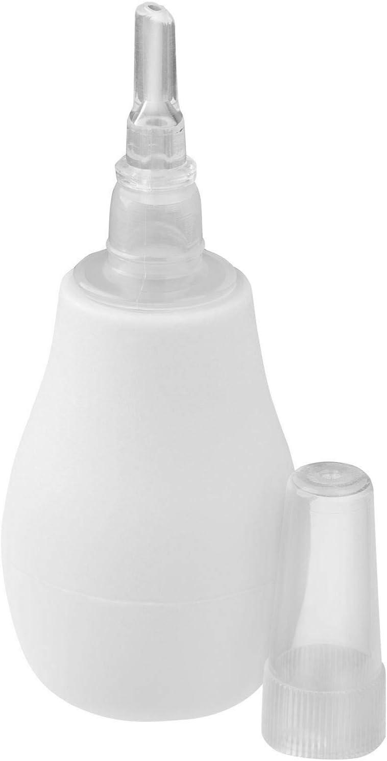 Limpiador nasal de nariz para bebé, bombilla transparente de aspirador nasal (blanco): Amazon.es: Bebé