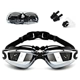DegGod Swim Goggles, Swimming Pool Glasses Strap Clear Lens for Adult Men Women Kids Youth No Leaking Anti Fog Safety UV Protection Waterproof (Black)