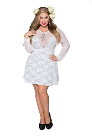 Amazon Sexy Elegant Classy Flair Plus Size Layer Stretch Lace