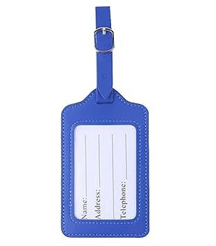 Elegante equipaje etiqueta maleta etiqueta viaje equipaje señalización, Azul: Amazon.es: Oficina y papelería