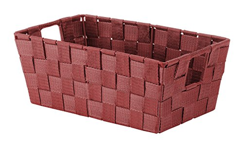 Whitmor Woven Strap Small Shelf Tote Red