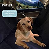 FitPetX Deluxe Waterproof Pet Seat Cover for Cars and SUV -Nonslip - Quilted - Extra Side Flaps - Machine Washable Pet Hammock Car Seat Cover