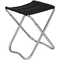 #11 Aluminium Klapp-Hocker mit MDF Tischplatte 42x42 cm Camping Hocker Klapp Stuhl Faltstuhl Alu Tisch Beistelltisch Hockertisch