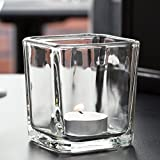 Libbey 5474 7.5 oz. Cube Votive Holder / Condiment Jar - 12 / Case