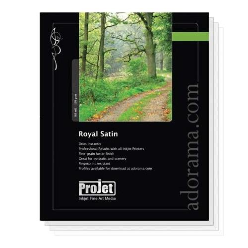 (Projet Royal Satin, Pearl Surface Resin Coated Inkjet Paper, 9.0 mil., 170 GSM, 11x17