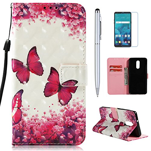 mellonlu LG Stylo 4 Case, LG Q Stylus Case, LG Stylo 4 Plus Case, LG Stylus 4 Case, Premium PU Leather Flip Fold Wallet Case [Card Holder] [Kickstand Feature] Magnetic Protective Phone Cover