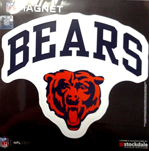 Chicago Bears ARCH Style Logo 12'' Magnet Heavy Duty Auto Home NFL Football by Stockdale