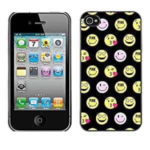 Plastic Shell Protective Case Cover || Apple iPhone 4 / 4S || Face Funny Emoticon @XPTECH