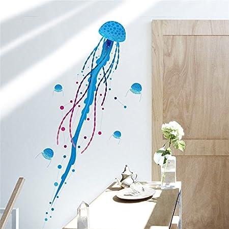Pegatina baño medusa azul para bañeras mamparas baño, cuartos infantiles de OPEN BUY: Amazon.es: Hogar