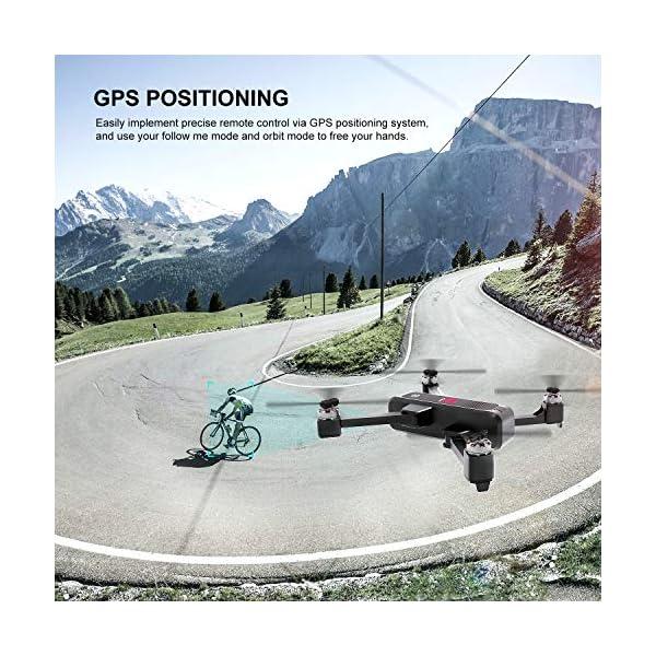 EACHINE EX3 Drone 2K Telecamera GPS Brushless 5G WiFi Lente Grandangolo Pieghevole Drone App Controllo FPV RTF 3 spesavip