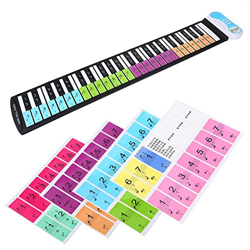 Removable Piano Stickers,Electronic Keyboard Note Keys Stick