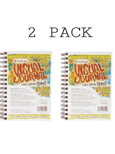 Strathmore Visual Journal Spiral Bound 5.5''X8''-Mixed Media Vellum 2 Pack by Strathmore