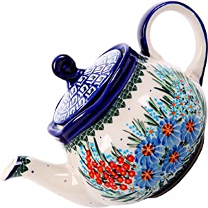Polish Pottery Ceramika Boleslawiec 0105/169 Teapot Fruti, 3-1/4-Cup