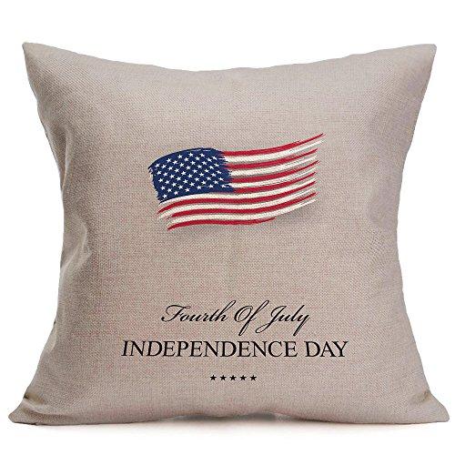 Lumbar Pillow Decorative,Vintage American Flag Pillow Cases Linen Sofa Cushion Cover Home Decor,Lumbar Pillow Decorative,D,Free Size