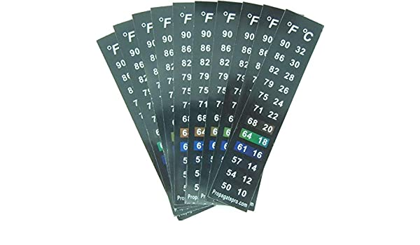 Stick On Thermometer Strip, Digital Temperature Display for