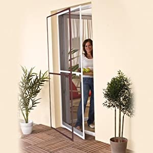 Insect Protection - Door Screen \u2013 White Aluminium Frame - Mosquito Net for Doors up to 100x215cm & Insect Protection - Door Screen - White Aluminium Frame - Mosquito ... Pezcame.Com