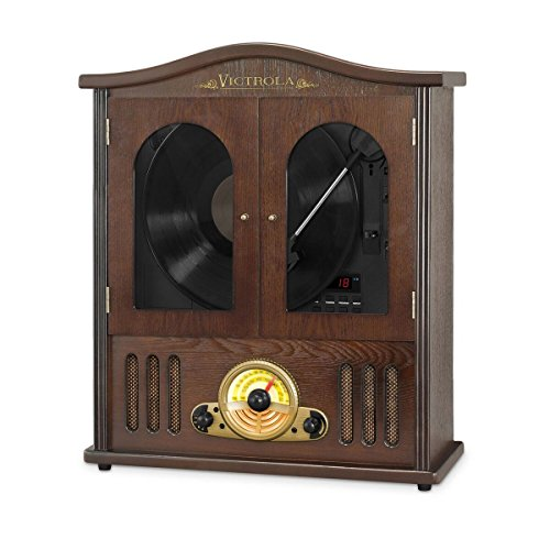 Victrola-Wood-Wall-Mount-Turntable-with-CD-and-Bluetooth