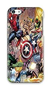 FUNKthing Marvel Clash Spiderman Captain America Iron Man PC Hard new iphone 5c case for men