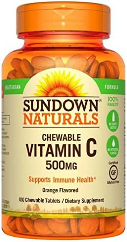 Sundown Naturals Chewable Vitamin C 500 mg 100 Tablets
