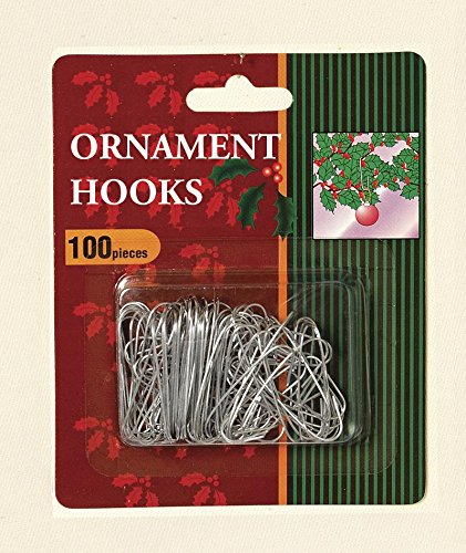 Gerson Silver Metal Ornament Hooks (pack OF 100)