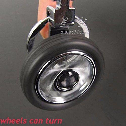 Spinning Tyre Rotary Wheel Locking Metal Keychain Honda car Keychain Artistic India