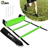 JBM Agility Ladder with Free Carry Bag Speed Ladder Agility Training Ladder For Agility Speed Ladder Drills Speed Training Soccer Football Agility Training