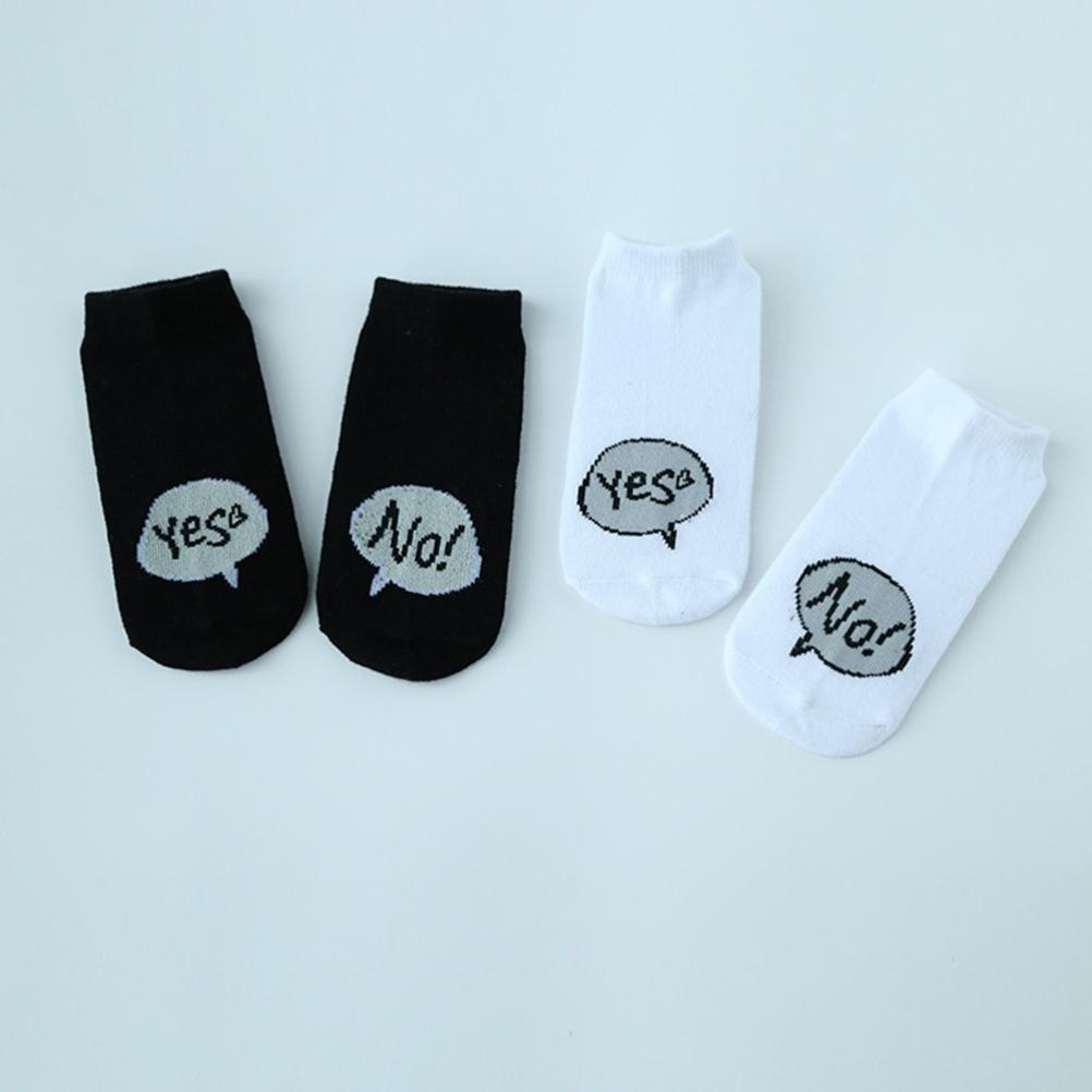 DIGOOD Toddlers Newborn Baby Boys Girls Cotton Cute Letter Anti-slip Socks