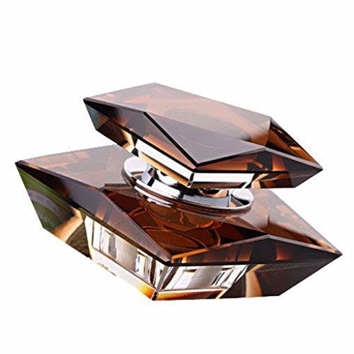 EFORCAR Car Perfume Seat Elegant Crystal Perfume Bottle Base Set Without Perfume(Brown,Pack of 1)
