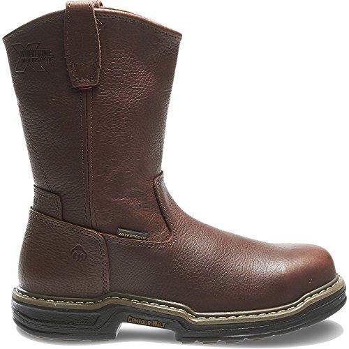 Wolverine Multishox Waterproof Steel Toe (Wolverine Men's W04826 Buccaneer Boot, Dark Brown, 12 M US)