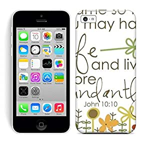 Best Power(TM) Hard Back Cover Skin Cases for iphone 5c, Unique Design of i came so that you may have life and live more Plastic Case, SnapOn, Protector