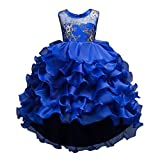 Momola Girls Sleeveless Princess Layered Dress Pageant Tutu Tulle Gown Party Wedding Bridesmaid Dresses - Kids Custom Clothing For 2-14 Years Old (11-12 Years, Purple)
