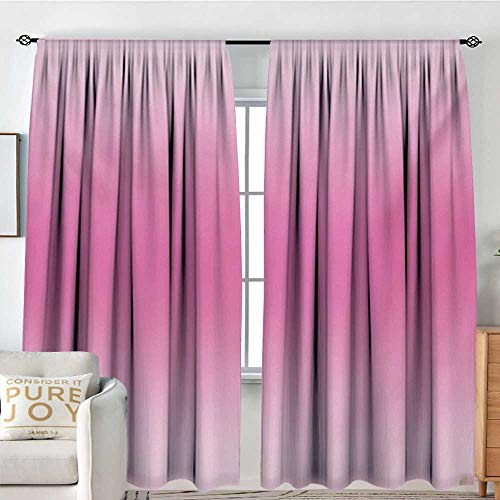 (Petpany Living Room Curtains Ombre,Medieval Fairytale Style Cotton Candy Inspired Girly Design Digital Modern Artwork Print,Pink,Darkening and Thermal Insulating Drapes 72