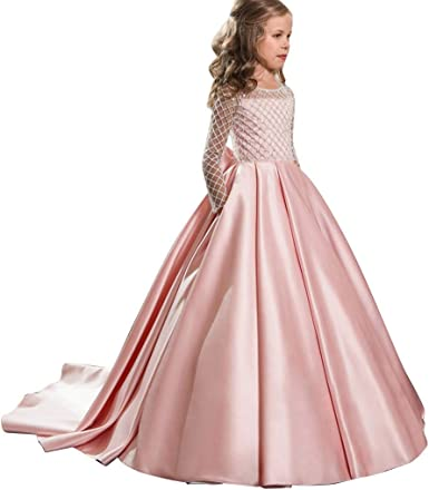 Princess Dress Kids Chiffon Party Dress Ball Gown Knee Length Wedding Party Dress