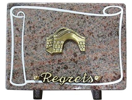 Plaque Funeraire Granit/Rect / Sablé Autour/Bronze / Pieds Alu/Chants Poli/Inter Texte Bronze x 1 / Dims 25x17cm OL2-RE1-8297-HM Alexandria