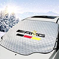 YIKA Magnetic Car Windshield Cover for Ice and Snow, Hail / 3 Magnets Most Secure Fitting and Easiest Installation/Waterproof, for AMG Mercedes-Benz