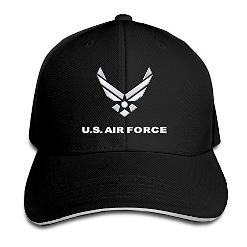 Unisex Dyed Cotton Adjustable Peaked Baseball Cap U.S. Air Force Symbol Dad Trucker Hat