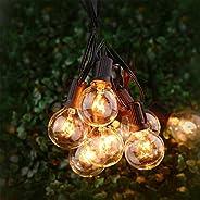 Luces para patio, TYC 25 Bombillas 7.65 Metros Guirnalda de luces, G40 Tira de bombillas para Exterior, Interi