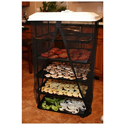 Food Pantrie Solar Food Dehydrator - Hanging Dehydration System - Non-Electric, Eco Friendly, Natural Way To Air Dry Foods, Fruits, Vegetables, Herbs, Jerky & More. 5-Tray Dryer (1)