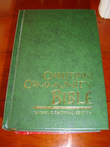 Christian Community Bible GREEN / Catholic Pastoral Edition / Color Maps, Thumb Index / Claretian / Thirty-eight Edition
