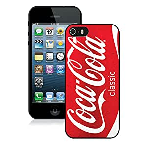 Red Soda Style Coca Cola Black New Personalized Custom iPhone 5 5S Case