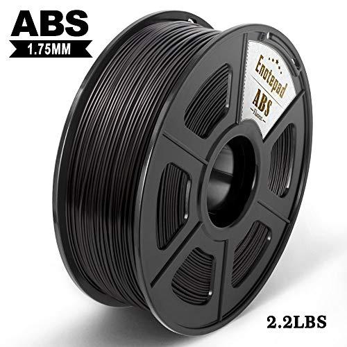ABS 3D Filament,Black,3D Printer Filament,1.75 mm,Dimensional Accuracy ± 0.02 mm,1KG/Spool - Strong ABS(Black)